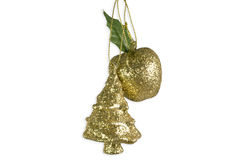 Christmas Tree Apple Decoration Royalty Free Stock Photo