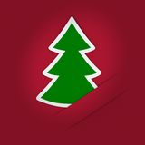 Christmas tree applique Royalty Free Stock Image
