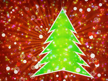 Christmas tree applique Stock Photos
