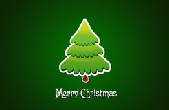Christmas tree. Christmas applique with tree background Stock Images