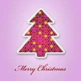 Christmas tree applique background. Stock Images