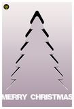 Christmas tree applique vector background. Royalty Free Stock Image
