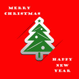 Christmas tree applique vector background Royalty Free Stock Photo