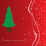 Christmas tree applique vector background. Royalty Free Stock Photo