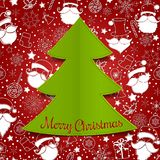 Christmas tree applique vector background Stock Images