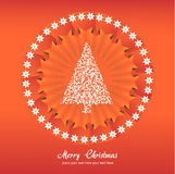 Christmas tree applique vector background. Royalty Free Stock Photos