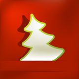 Christmas tree applique vector background. + EPS8. Vector file Royalty Free Illustration