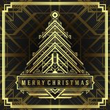 Christmas tree art deco style Stock Photo