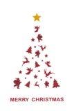 Christmas tree artwork Royalty Free Stock Image