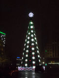 Christmas tree in Astana Stock Photography
