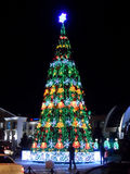 Christmas tree in Astana Royalty Free Stock Images