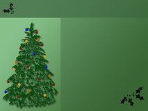Christmas Tree Background. Great Christmas Tree Background - Great for background title or scrapbook or greeting card Stock Photos