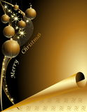 Christmas tree background. Gold Christmas tree made of stars Stock Photography