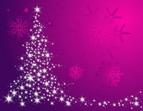 Christmas tree background. Silver Christmas tree background made of stars Stock Images