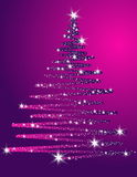 Christmas tree background. Silver Christmas tree background made of stars Royalty Free Stock Image