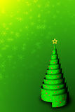 Christmas Tree Background-2. A 3D Christmas Tree Background Royalty Free Stock Photography