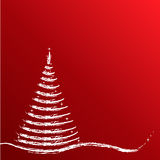 Christmas Tree Background. In red tones Stock Photography