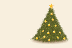 Christmas tree background. For your advert message Stock Images