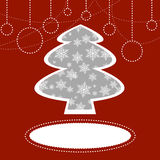 Christmas tree background. Christmas background with christmas tree and place for text Royalty Free Stock Photography
