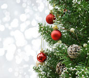 Christmas tree background Stock Images