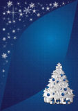 Christmas tree background. Sparkling blue christmas tree background illustration Stock Photo
