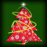 Christmas tree background. Royalty Free Stock Photo