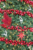 Christmas tree background with baubles Royalty Free Stock Images