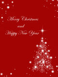 Christmas tree. Christmas background with beautiful Christmas tree and wishes Stock Photography