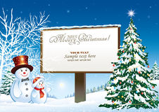 Christmas tree on a background of the billboard Royalty Free Stock Image