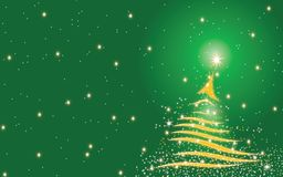 Christmas tree background - Green Royalty Free Stock Images