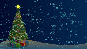 Christmas Tree Background stock video