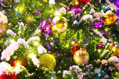 Christmas tree background. A christmas tree background decoration stock images