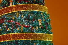 Christmas tree background with copy-space Royalty Free Stock Photography