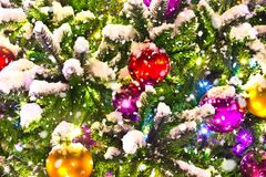 Christmas tree background. A christmas tree background decoration royalty free stock image