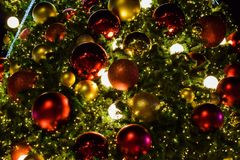 Christmas tree background. Christmas tree in festival in December Stock Photo