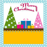 Christmas tree background with gifts Royalty Free Stock Photography