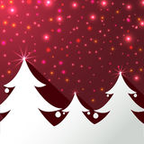 Christmas trees background greeting card Stock Photos