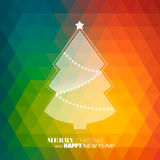 Christmas tree  background. Illustration Stock Illustration