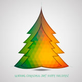 Christmas tree  background. Illustration Vector Illustration