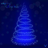 Christmas Tree Background - Illustration. Christmas background.EPS 10 file vector illustration