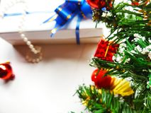 Christmas tree background. stock photos