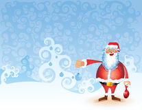 Christmas tree background New Year landscape Santa Stock Images