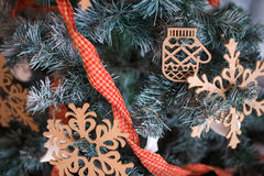 Christmas tree background. Christmas tree with ornaments Stock Images