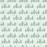 Christmas tree background. Seamless pattern with fir-trees. Vector design element Stock Photography