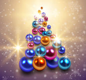 Christmas tree background. Royalty Free Stock Images