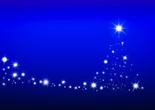 The christmas tree background with space for you design. Stock Image
