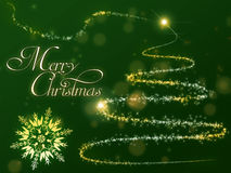 Christmas tree background. Background with christmas theme and wish Stock Images