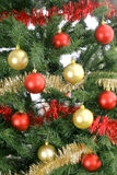 Christmas tree background upclose. Photo of a Christmas tree background upclose Royalty Free Stock Photography