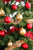 Christmas tree background upclose shiny. Photo of a Christmas tree background upclose shiny Royalty Free Stock Images