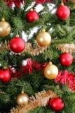 Christmas tree background upclose shiny Royalty Free Stock Images